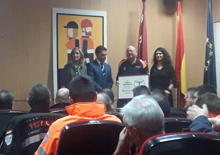 Galardón regional a Protección Civil de Pliego por su labor tras los episodios de la DANA