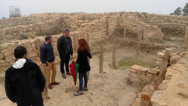 Visita del Director General de bienes culturales a La Almoloya y al Castillo de La Mota