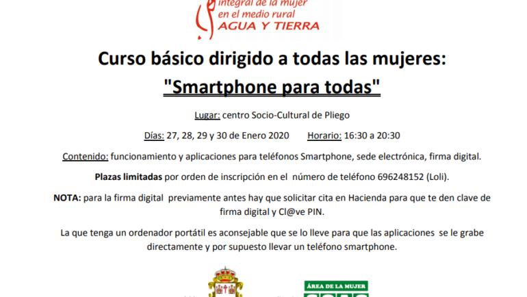 Se va a realizar un curso básico dirigido a las mujeres para el uso de teléfonos inteligentes