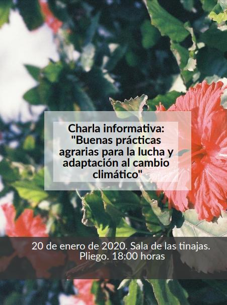 El lunes se realiza en Pliego una charla informativa sobre buenas prácticas agrarias contra el cambio climático