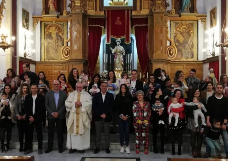 Celebrado el dia de la Candelaria con los 26 nuevos nacimientos durante 2019
