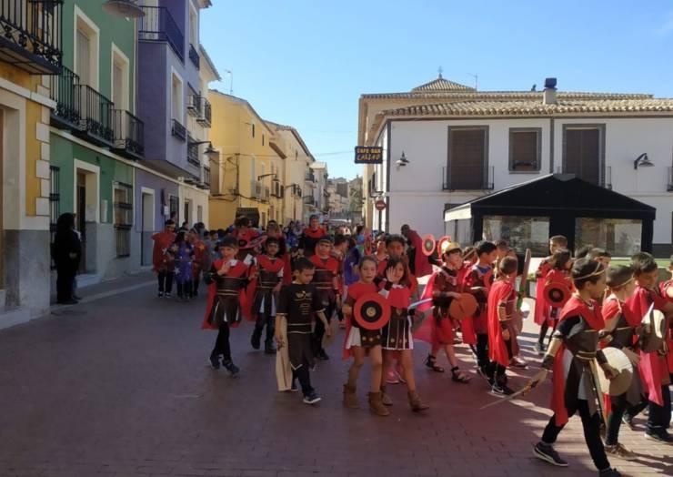 Los escolares de Pliego celebraron un martes de Carnaval muy murciano