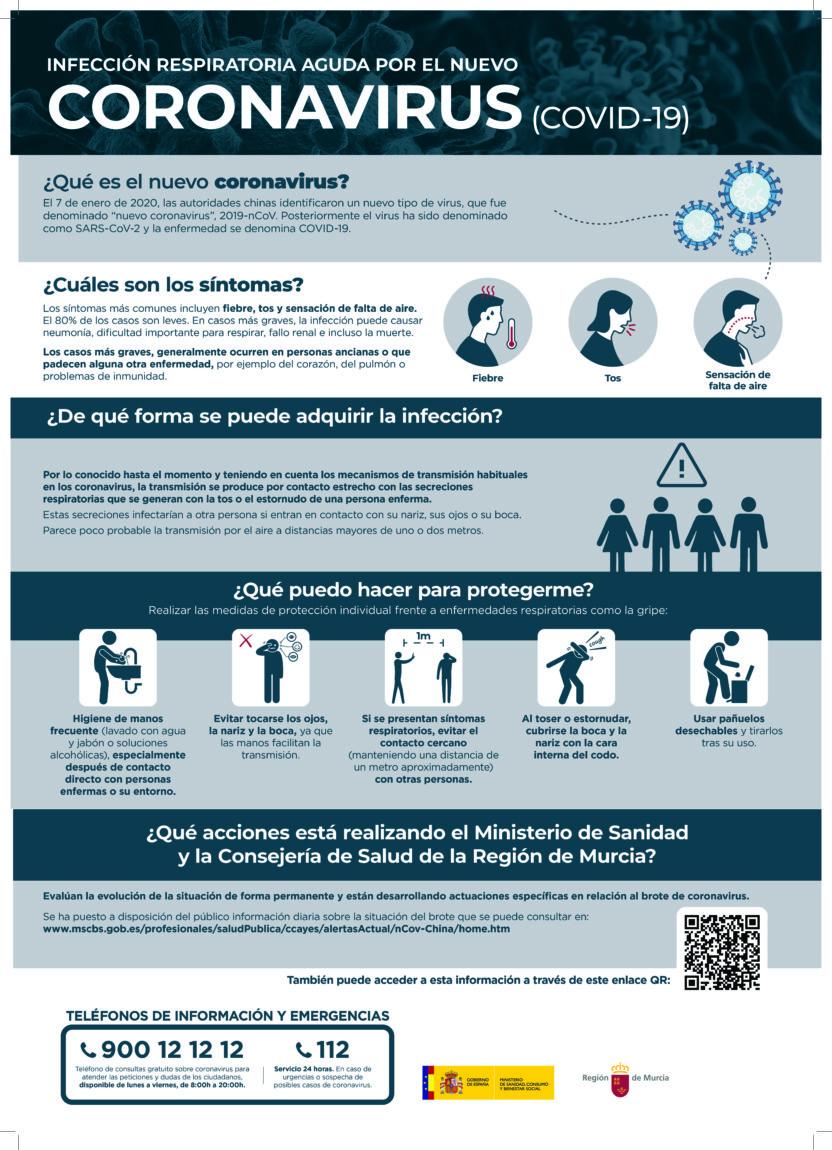 Actualización de la información sobre el Coronavirus o Covid-19