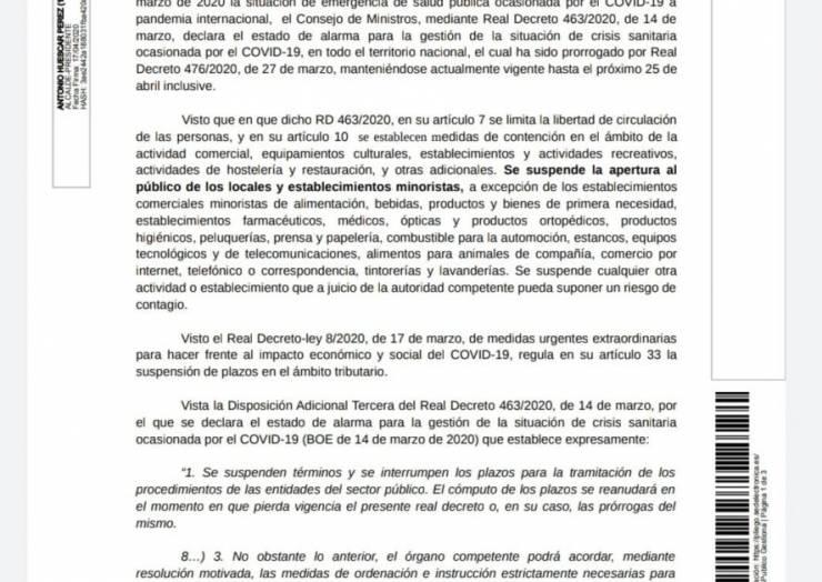 COMUNICADO EXENCIÓN DE TASAS