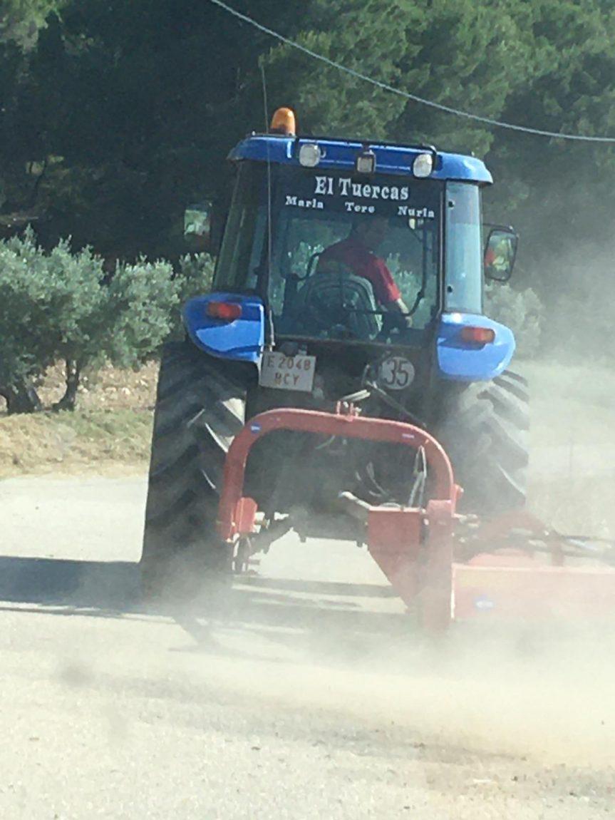 Comienza la limpieza de los caminos de la huerta