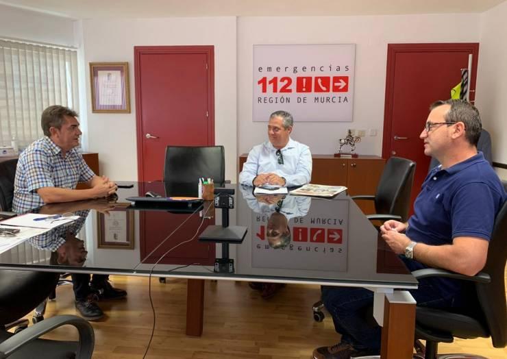 Visita al director de Emergencias de la Región de Murcia.