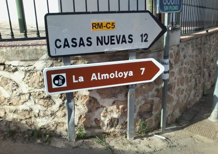Nueva señalización de la Almoloya