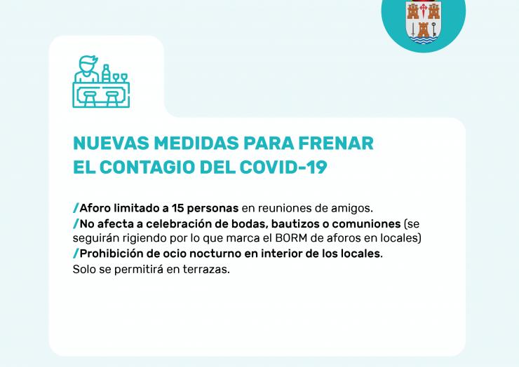 ℹNuevas medidas para prevenir el contagio del Covid-19