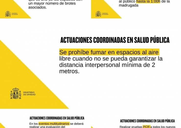 Actuaciones coordinadas en materia de salud pública en beneficio de todas las Comunidades Autónomas de España