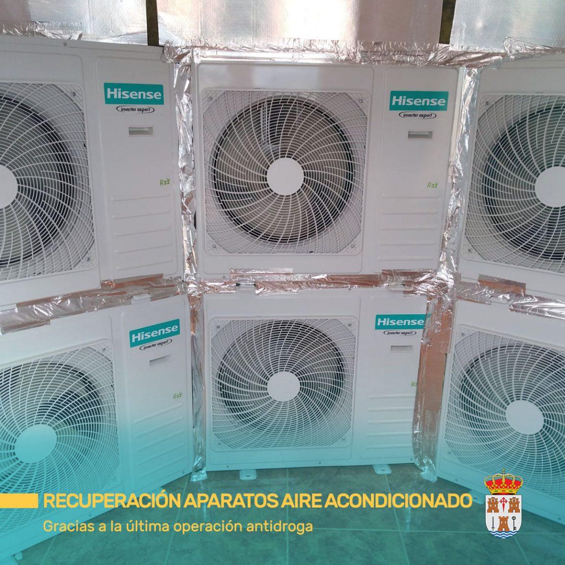 Recuperación de 6 aparatos de aire acondicionado