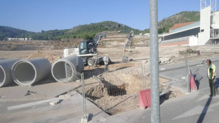 Obras de la primera fase del nuevo colegio 'Pascual Martínez Abellán' de Pliego