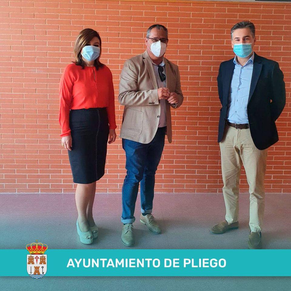 Visita en Pliego de Sergio López