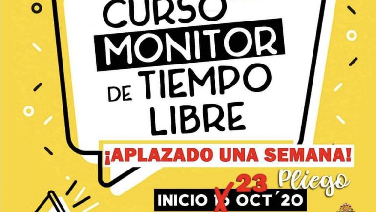 El curso de Monitor de Ocio y Tiempo Libre se aplaza al 23 de octubre