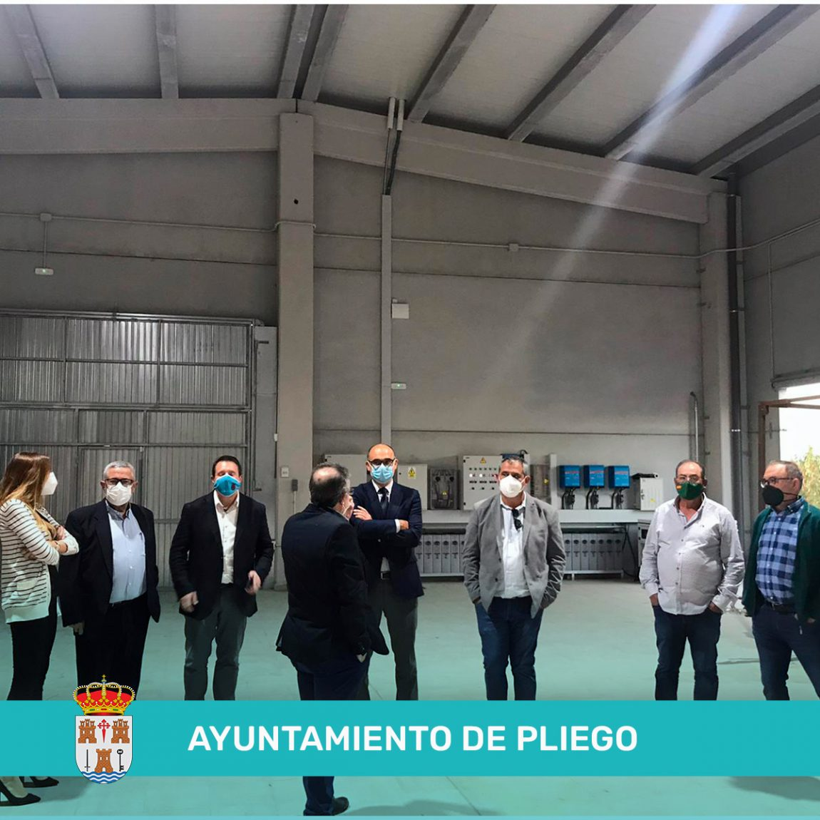 VISITA DEL RECTOR MAGNIFICO DE LA UNIVERSIDAD DE ALICANTE AL MUNICIPIO DE PLIEGO.