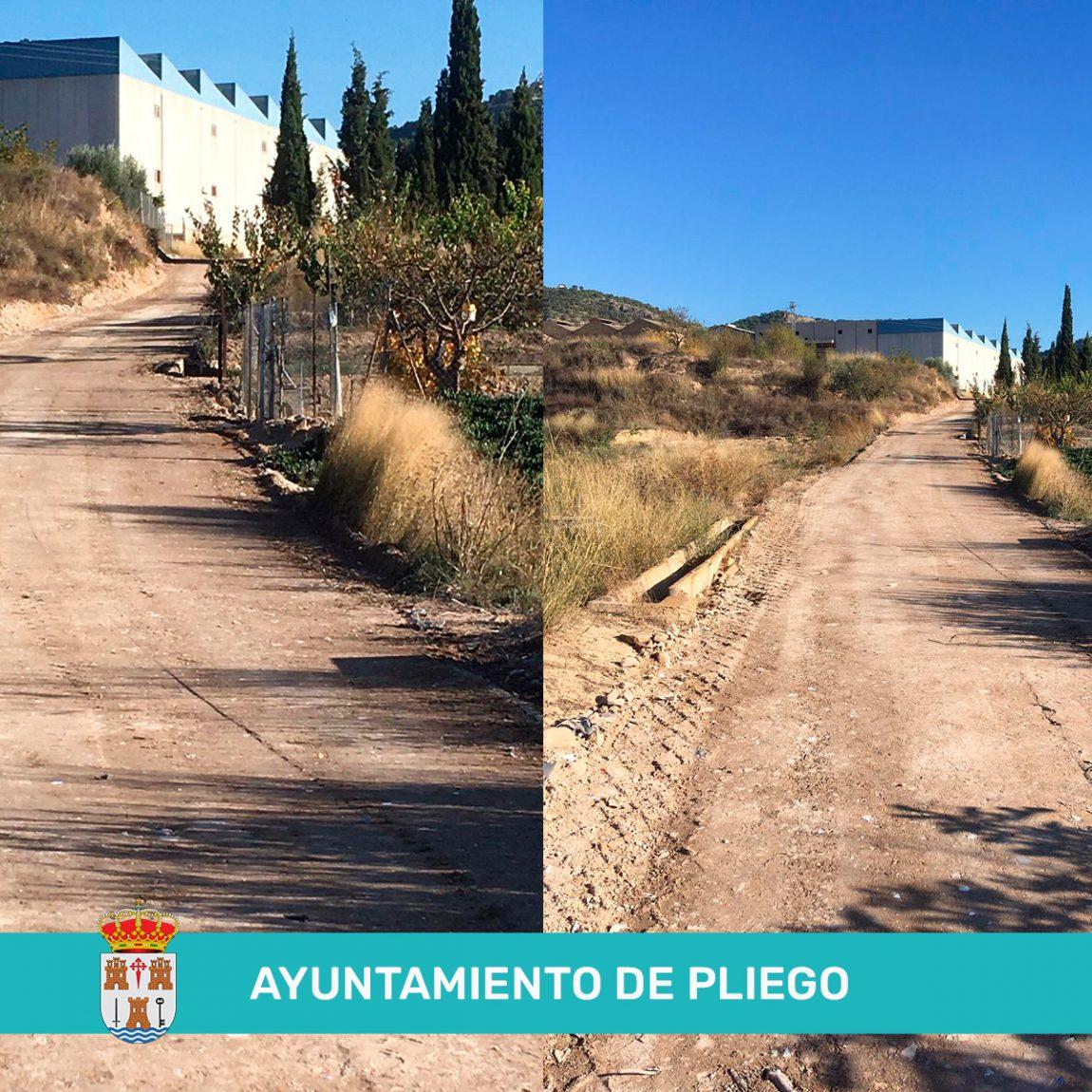 Mejora de los caminos la loma y la hoya pilas