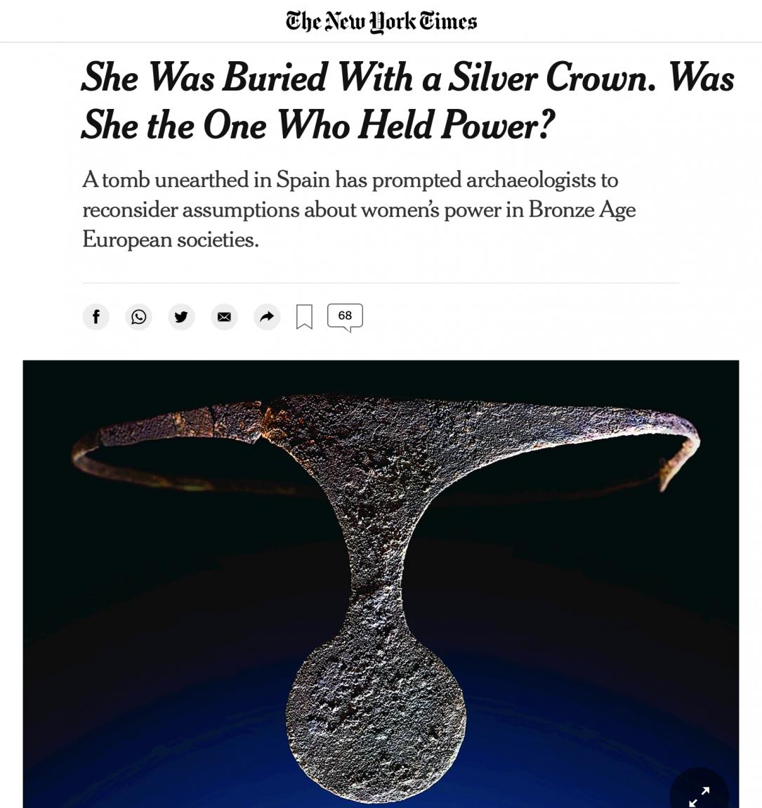 «LA REINA DE LA ALMOLOYA» en el NEW YORK TIME.