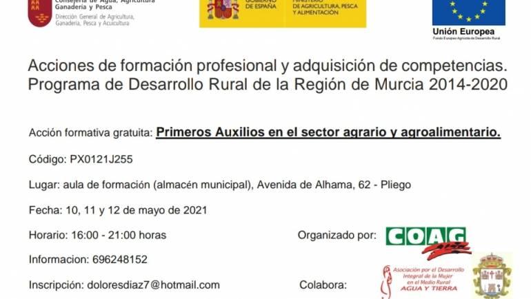 Acción formativa gratuita: Primeros Auxilios en el sector agrario y agroalimentario.