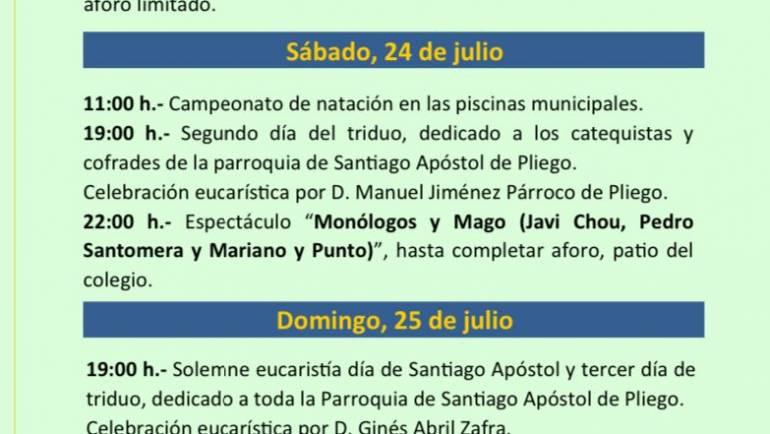 Programación Santiago Apóstol 2021
