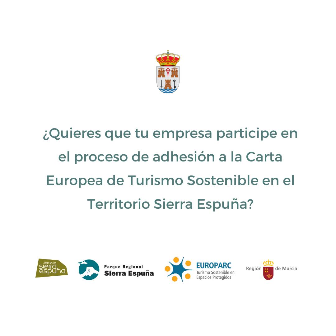 Adhesión a la Carta Europea de Turismo Sostenible en el Territorio Sierra Espuña